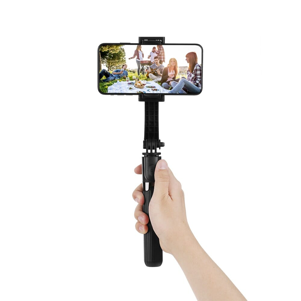 51% OFF L08 Gimbal Stabilizer Selfie Stick Tripod BT4.0 Wireless Aluminum Alloy Foldable Selfie Stick Tripod,free shipping+$30.03