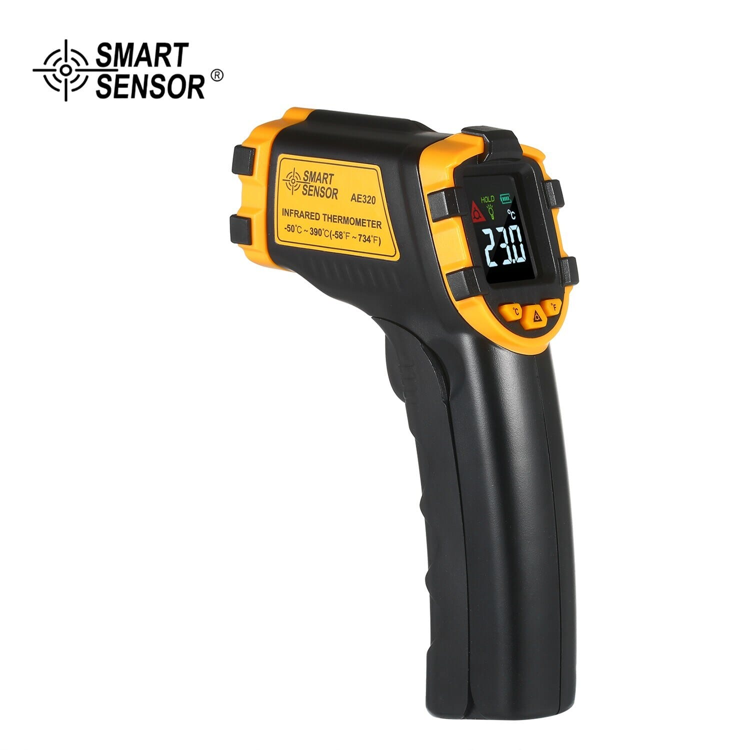 46% OFF SMART SENSOR -50¡«390¡æ 12:1 Mini Handheld Digital Non-contact IR Infrared Thermometer,free shipping+$16.49