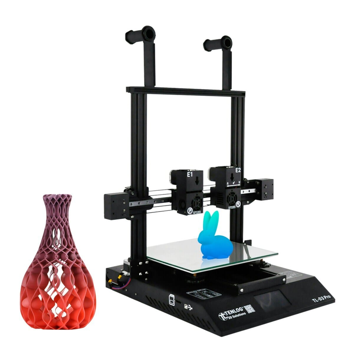18% OFF TENLOG TL-D3 Pro 3D Printer Independent Dual Extruder Double Z-axis,free shipping+$514.93