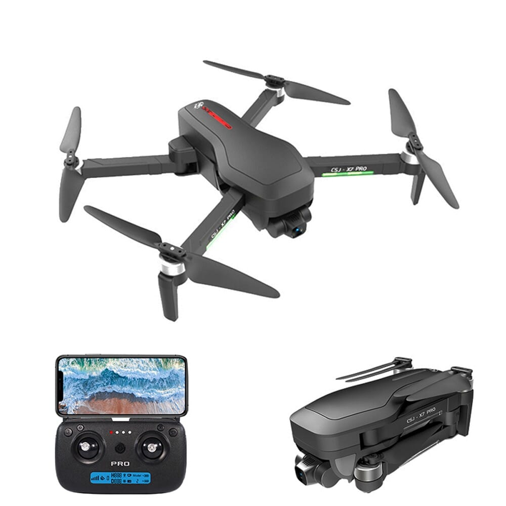 60% OFF CSJ X7 PRO GPS 5G Wifi 4K RC Drone 2-axis Gimbal with Backpack, EU Warehouse  $134.99